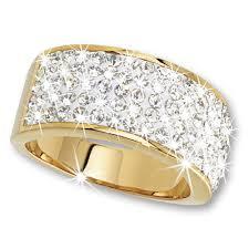 white fire rings images 18ct gold plated white fire swarovski ring danbury mint jpg