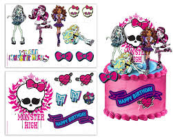 high cake toppers monsters topper free clipart