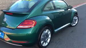 green volkswagen beetle convertible 2017 volkswagen beetle sel bottle green youtube