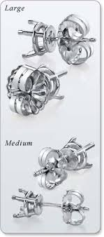 post back earring guide earring backs moissaniteco moissanite rings and