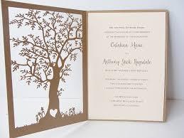 tree laser cut wedding invitation