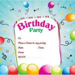 birthday party invitation template 30 kids birthday invitation