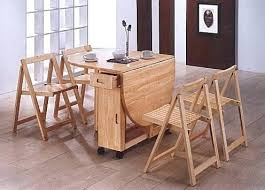Folding Table With Chair Storage Inside Dining Table Folding Dining Table Online Mumbai And Chairs Set