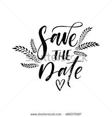 save the date in save date postcard weddings phrase ink stock vector 534360313