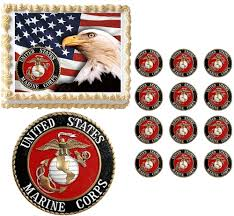 marine cake topper states marine corps seal eagle edible cake topper