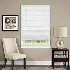 white cordless vinyl mini blinds mini blinds the home depot