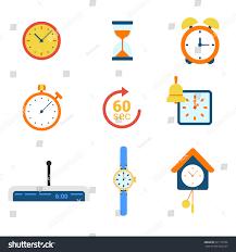 flat style modern time clock alarm stock vector 321112766