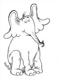 dr seuss horton sitting elephant coloring page coloringplus com