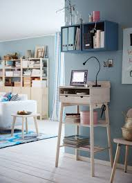 Desk In Living Room by Living Room Ikea Standing Workstation In Smooth Natural Wood S