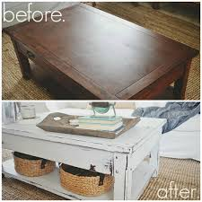 White Distressed Wood Coffee Table Coffee Table Makeover Part One Paint Coffee Tables Coffee