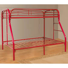 twin over full metal bunk bed powder coated red dcg stores twin over full metal bunk bed powder coated red