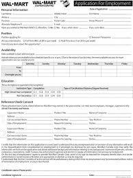 walmart job application form download free u0026 premium templates