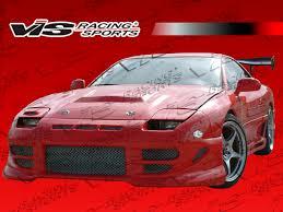 dodge stealth red mitsubishi 3000gt vis racing fuzion front bumper 91mt3k2dfuz 001