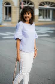 periwinkle blouse j crew blouse white low block heel grace