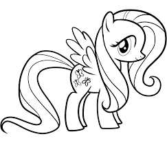 printable 13 my little pony coloring pages fluttershy 3210