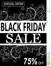 black friday background with floral decorations stock vector