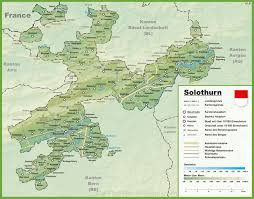 France Map With Cities by Canton Of Solothurn Maps Switzerland Maps Of Canton Of Solothurn