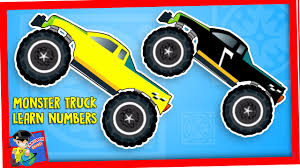 monster truck cartoon videos monster truck learn numbers stunt truck animated videos for