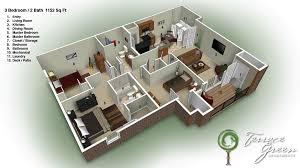 3 bed 3 bath 3 bedroom 2 bath 25 more 3 bedroom 3d floor plans 3d bedrooms and