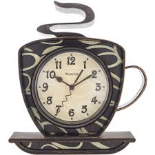 Home Decor Clocks Westclox Coffee Mug Wall Clock Walmart Com