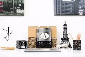 blu monaco desk organizer home office accessories 3 piece set u2013 black