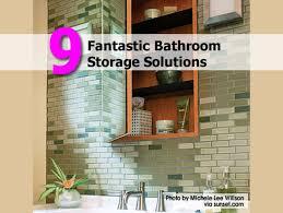 9 fantastic bathroom storage solutions