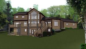 charming inspiration 3 side walk out house plans sloping lot plan