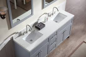 bathroom vanity countertops double sink ariel hamlet 73 double sink vanity set with white quartz countertop