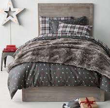 flannel lodge plaid flannel bedding collection