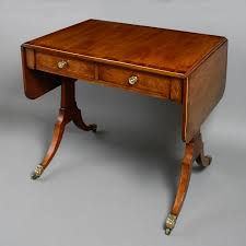 an unusually small late 18th century mahogany sofa table timothy