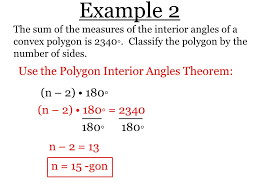Measures Of Interior Angles Section 8 U2013 1 Find Angle Measures In Polygons Theorem 8 1 Polygon