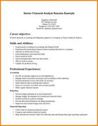 Financial Analyst Resume Example by Examples Of Resumes Example Resume For Job Templates Us