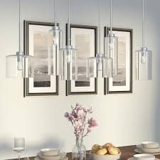 kitchen island pendants wade logan siddharth 6 light kitchen island pendant reviews