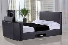 Bed Frame With Tv Built In Leather Bed Frames Divan Bases With Built In Tv Stand Ebay