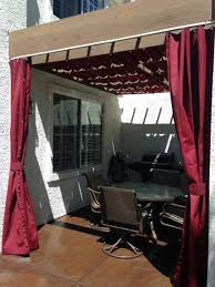 Pergola With Awning by Canvas Outdoor Drapes Added To This Pergola First Impressions