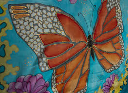 silk home silk fabric batik butterfly painted silk home decor wool