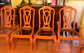 ascp barcelona orange dining room table and chairs sadie at