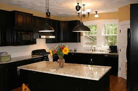 portable island kitchen white granite countertop sleek black
