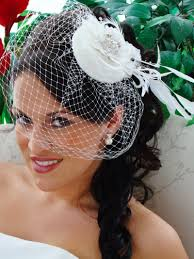 exquisite flower bridal hat u0026 birdcage veil blusher clip 8127