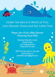 whale baby shower invitations the sea baby shower invitations creatures boy girl gender