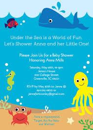 under the sea baby shower invitations gallery invitation design