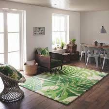 sanderson manila rugs 46407 in green free uk delivery the rug