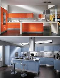 Bright Colored Kitchens - 7 monochrome kitchens make singular use of bright colors