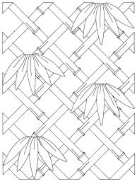 bamboo frame coloring page free printable coloring pages