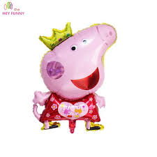 pig balloons peppa pig children s air foil balloons pink pig for