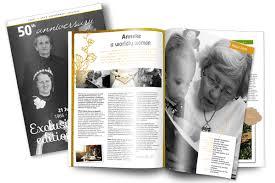 wedding magazine template make your own personalised wedding anniversary magazine jilster