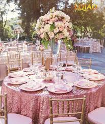 wedding table linens lqiao pink gold 330cm sequin tablecloth 132 inch