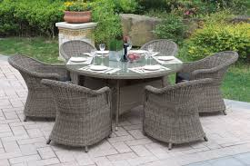 Patio Set 6 Chairs by 228 229 7 Pcs Outdoor Set 2colors Silver State Furniture