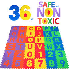 amazon com non toxic 36 piece abc foam mat alphabet u0026 number