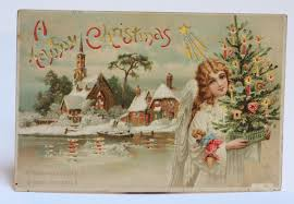 Vintage German Christmas Decorations by The Old Christmas Station Early Ephemera Hold To Light